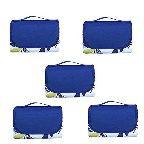 KUCONGST 5 PCS Picnic Manta Playa Prueba de Arena Mat Plegable Senderismo Accesorios Picnic Mat Alfombra Exterior