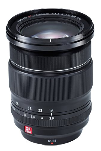 Fujifilm Fujinon XF 16 - 55 mm f/2.8 R LM WR - Objetivo para Fujifilm con montura X (distancia focal 16 - 55 mm, apertura f/2.8, zoom 3.4x, óptico, tamaño del filtro 77 mm), negro