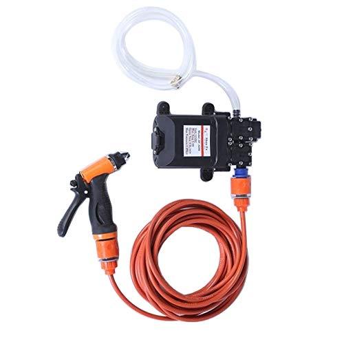XUJINQI Autowas-spuitpistool Auto wasmachine Gun pomp hogedrukreiniger auto onderhoud draagbare wasmachine elektrische reiniging auto apparaat 12V (oranje)