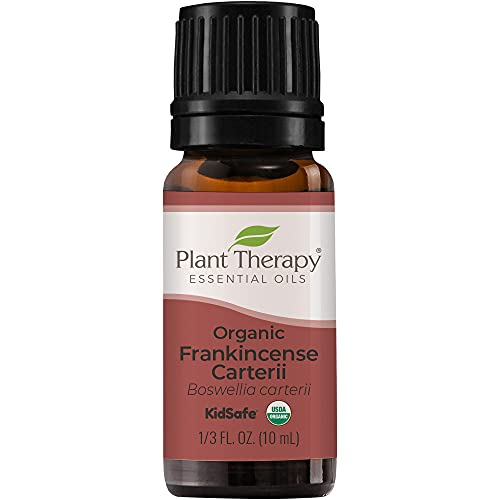 Plant Therapy Organic Frankincense Carterii Essential Oil 100% Pure, USDA Certified Organic, Undiluted, Natural Aromatherapy, Therapeutic Grade 10 mL (1/3 oz)