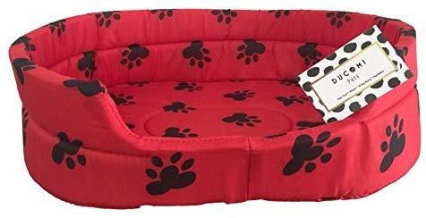 Ducomi Fufy 2 - Lettino per Cani e Gatti in Oxford - Morbida Cuccia per Animali Domestici - Facile da Lavare (XL, M-05)