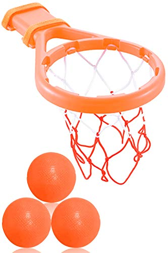 3 Bees & Me Bath Toy Basketball Hoop & Balls Set for Boys and Girls -...