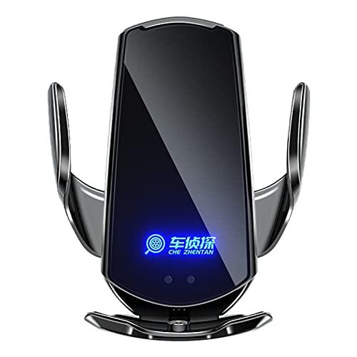 Soporte Movil TeléFono Accesorios de Coche de Carga magnética inalámbrica para Coche Apertura y Cierre universales por inducción,Black