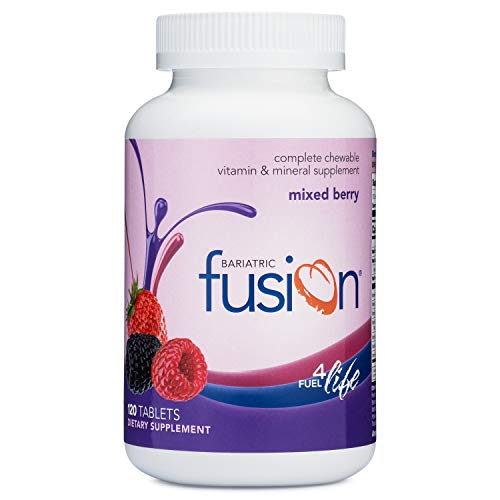 Bariatric Fusion Mixed Berry Complete Chewable Bariatric Multivitamin For Bariatric Surgery Patients Including Gastric Bypass and Sleeve Gastrectomy, 120 Tablets