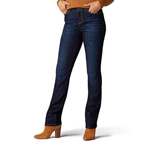 Lee Women's Legendary Regular Fit Straight Leg Jean, Rinse, 14