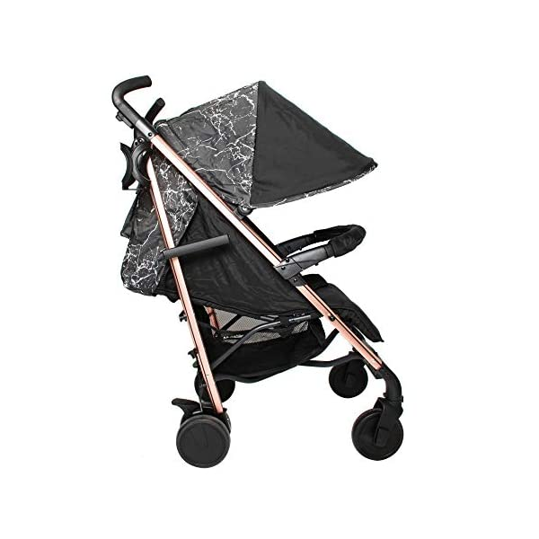 My Babiie Dreamiie by Samantha Faiers MB51 Black Marble Stroller My Babiie Suitable from birth to maximum 15kg Extendable 3 position canopy Lockable swivel front wheels 7