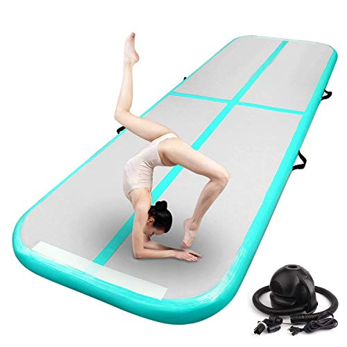 FBSPORT 10ft Inflatable Air Gymnastics Mat Training Mats 4 inches Thickness Gymnastics Tracks for...