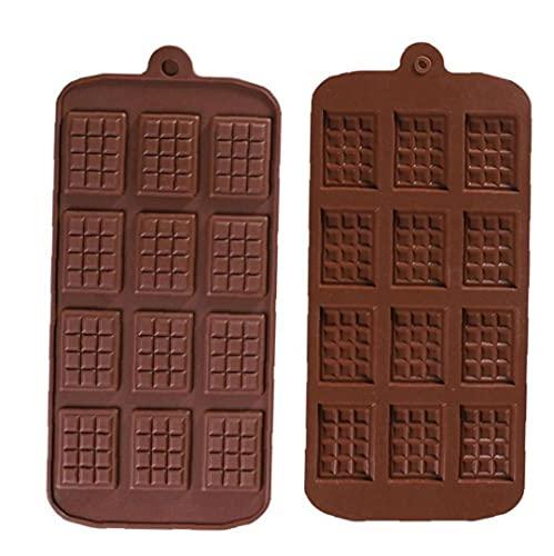 DierCosy Molde del Chocolate de 12 Cavidad del Chocolate DIY silicón de la Bandeja para Hornear la Pasta de azúcar del Molde Herramientas de 2 Piezas Premium