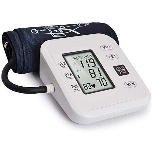 "Wrist Blood Pressure Monitor, Portable Automatic Digital BP Monitor Irregular Heart Beat Detection with Large Display Screen Adjustable 5.3""-8.100"" Cuff for Home Travel Use"