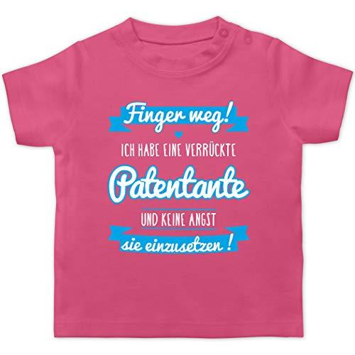 Sprüche Baby - Ich Habe eine verrückte Patentante blau - 12/18 Monate - Pink - Tshirt Baby Patentante - BZ02 - Baby T-Shirt Kurzarm