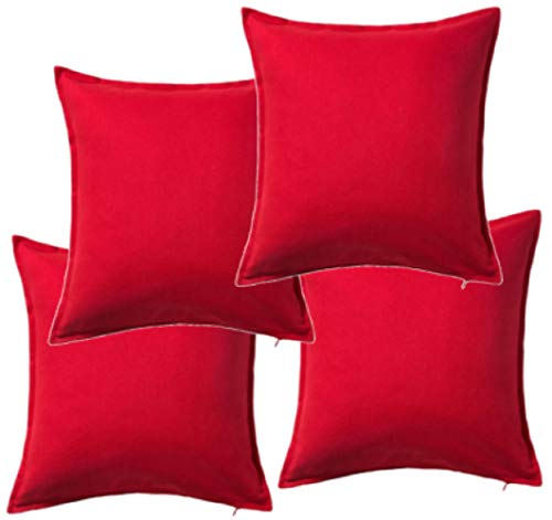 IKEA GURLI 702.811.48 Cushion Cover 50 x 50 centimetre Pack of 4 Red
