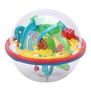 Intellekt 3D Labyrinth Ball Puzzle Spielzeug Labyrinth Sphärische Spielzeug Puzzle Spielzeug Weltraumtraining Imagination Bildung Spielzeug 100 Anspruchsvolle Barrieren Geschenk für Kinder