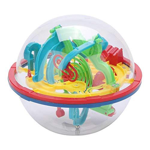 Hztyyier Palla 3D Labirinto sferico, Puzzle per Bambini Giochi con la Palla Giocattoli Disco Volante Barriere impegnative Palla Labirinto Rompicapo