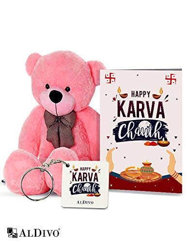 TIED RIBBONS Karwa Chauth Gift for Loving Wife Combo Pack (Designer Cushion with Filler, Printed Coffee Mug, Greeting Card)