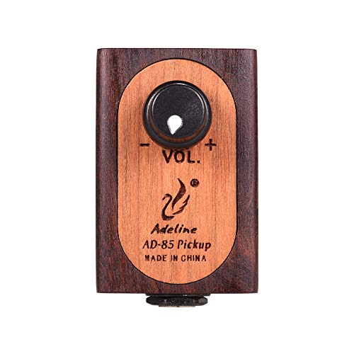 Lepeuxi Adeline AD-85 Selbstklebender Gitarren-Tonabnehmer aus Holz mit Lautstärkeregler für...