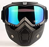 MOCHOEL Motorcycle Goggles Cool Mask Glasses for Outdoor Snowboard Ski Road Riding Motocross Cycling Anti-Fog Windproof UV400 Safety Protection Vintage Open Harley Motorbike Sunglasses