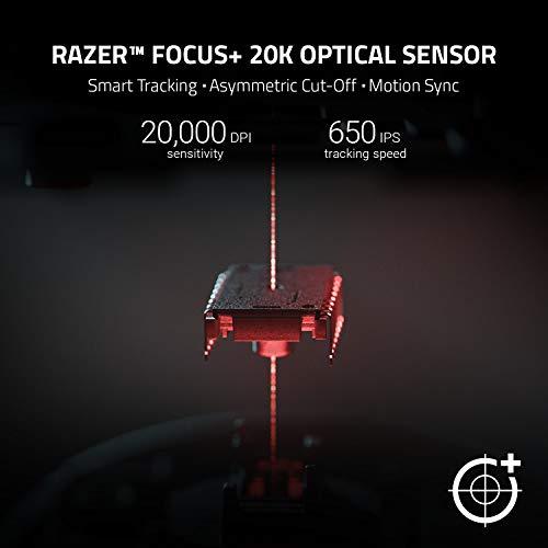 Razer DeathAdder V2 - Kabelgebundene USB Gaming Maus mit ergonomischen Komfort (Optische Switches, optischer Fokus+ 20K Sensor, Speedflex Kabel, integrierter Speicher) Schwarz