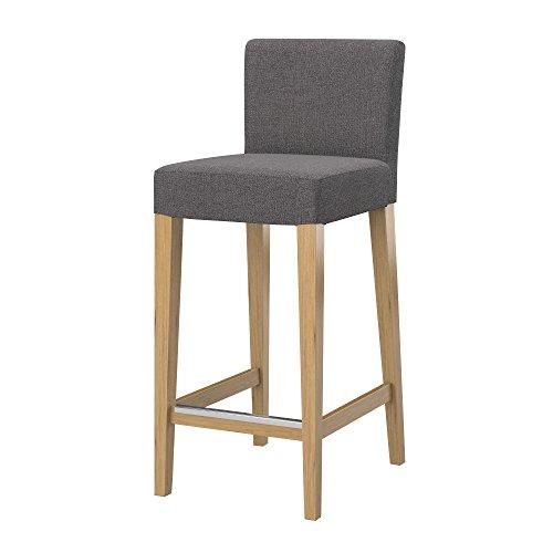 Soferia - IKEA HENRIKSDAL Funda Taburete Alto, Glam Grey