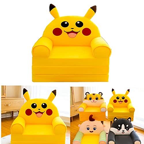 Xvfscev Children Nest Sleeping Sofa, Cute Cartoon Lazy Sofa, Plush Foldable Children Sofa, Cartoon Animal Small Chair, for Kids or Adults C