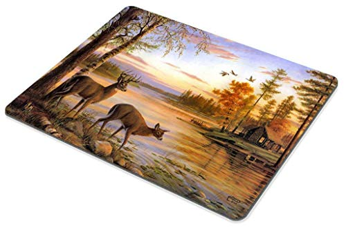 Gaming Mouse Pad Custom,World Map Silhouette Pattern Mouse Pad Non-Slip Thick Rubber Large Mousepad 30x25 cm