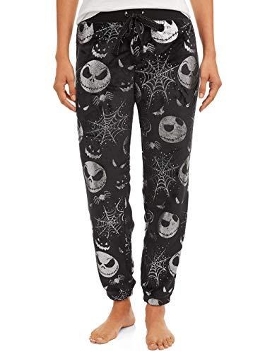 Disney Women's Jack Skellington Fleece Sleep Pants (8 / 10) Black