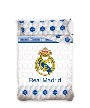 10XDIEZ Funda NÓRDICA Real Madrid 182055 - Medidas Cama - Cama de 90cm
