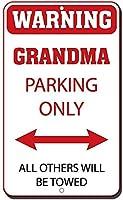 アルミニウムメタルサインおかしい警告おばあちゃん駐車場他のすべての駐車場のみ牽引されます