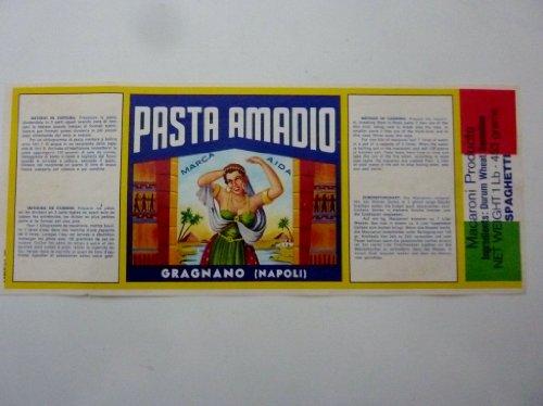 Etichetta Pubblicitaria 'PASTA AMODIO GRAGNANO (NAPOLI)'...