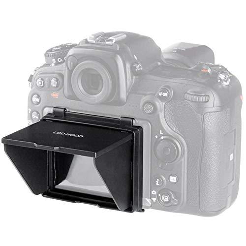 Yunir Pantalla LCD de la cámara Sun Shade Hood, Pop-up Camera Screen Protector Sunshade Cover para Nikon D500