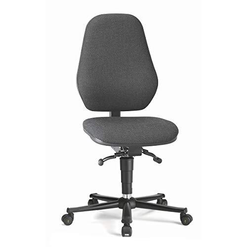 bimos Arbeitsdrehstuhl mit ESD-Schutz - mit Permanentkontakt - mit Rollen, Stoffbezug schwarz - Arbeitsdrehstuhl Arbeitsdrehstühle Arbeitsstuhl Arbeitsstühle Drehstuhl Drehstühle ESD-Arbeitsstuhl ESD-Arbeitsstühle Polsterstuhl Polsterstühle Stuhl