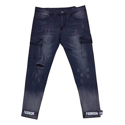 Mymyguoe Herren Jeans Hose Stretch Jeanshose Basic Slim Fit Jeans Herren Slim Fit Jeanshose Stretch Designer Hose Denim Jeans Herren Destroyed Look Slim Fit Denim Strech Jeans-Hose