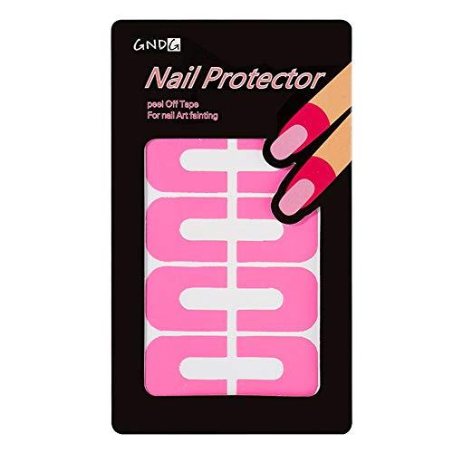 BLOUR 10 Stück Peel Off Tape Auslaufsicherer Nagelschutz Kreative U-Form Auslaufsichere Nagellack-Lackschutz-Aufkleber Werkzeuge
