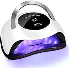 120W UV LED Nail Lamp, Easkep Faster Nail Dryer for Gel Polish with 4 Timer Setting Professional Gel Lamp Portable Handle Curing Lamp for Fingernail and Toenail Auto Sensor Nail Machine (2020 NEWEST)