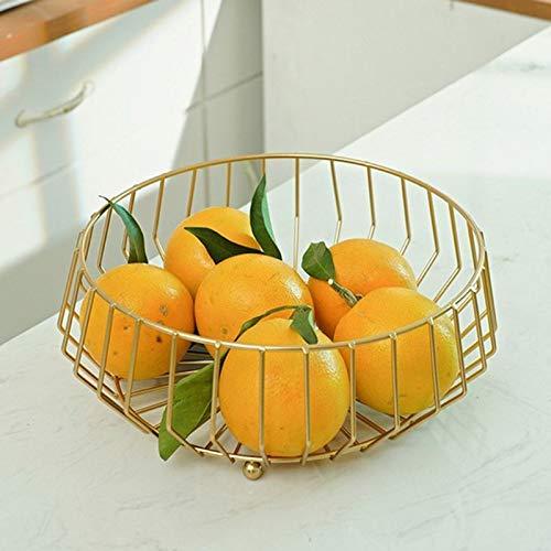 Plástico inoxidable Canasta de frutas creativas Tazón de almacenamiento de encimera para bocadillos Fruta Verduras Cocina Display Decorativo plato (Color : Black)