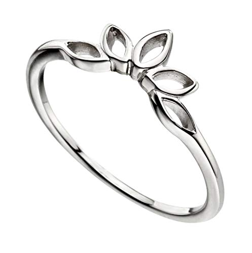 Sterling Silver Open Marquise Stacker Ring