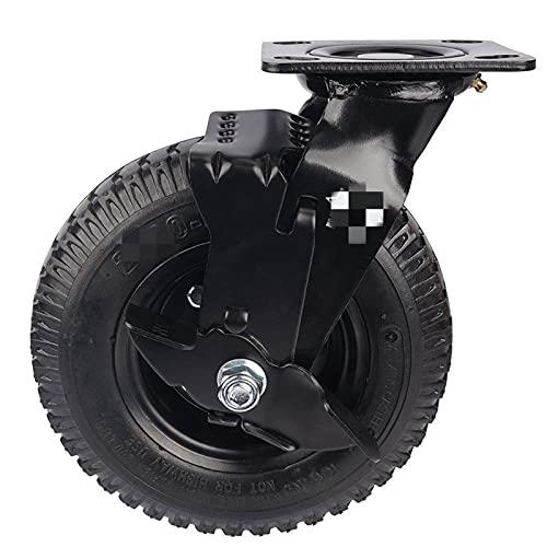 Ruedas Fábrica pesada 8 pulgadas de goma neumática lado de la rueda de aire de la rueda de aire de la rueda de aire Casta de equipaje universal liso (Color : 8 Inch)