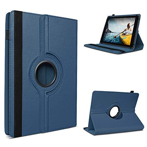 UC-Express Tablet Hülle kompatibel für Medion Lifetab P10710 P10612 P10610 P10603 P9701 P9702 P10606 P10602 X10605 X10607 P10506 Standfunktion 360° Drehbar, Farben:Blau