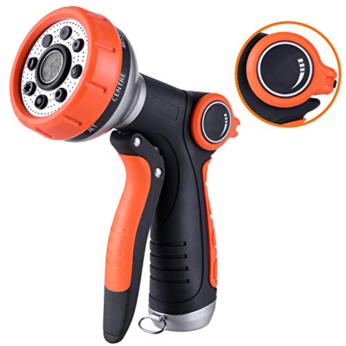 G-HOSE Garden Hose Nozzle Spray Nozzle with Water Volume Control Valve High Pressure Water Hose Nozzle Sprayer with Adjustable 8 Patterns for Garden Watering,Car Washing and Pet Showering