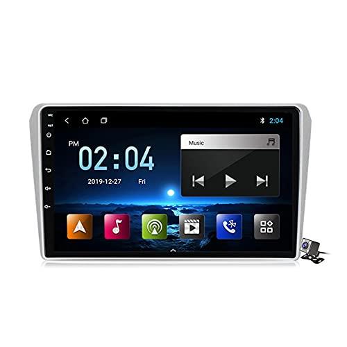 Android 10 GPS Navegación del Coche Estéreo para Toyota Avensis T25 2003-2009 con 9 Pulgada Táctil Soporte Split Screen/FM Am RDS Radio/Control del Volante/Carplay Android Auto,M150