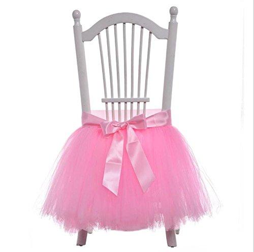 Chaise de dressing Chair Tulle Flocon de neige Wonderland Chair Housse en tissu pour la partie Chaises de chaise Baby Shower Party Wedding Décoration d'anniversaire Home Decor Girl, 45x45cm (1PC) , 1 , 45*45 cm