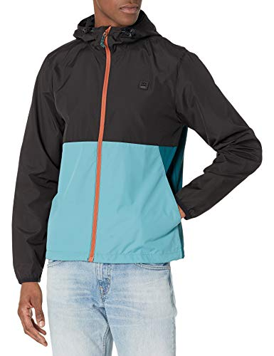 BILLABONG Herren Transport Windbreaker Jacke, Blaugrün, Large