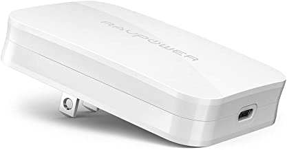 RAVPower USB-C急速充電器 (45W/PD対応/超軽量) 【eGaN技術 (窒化ガリウム) 採用/折畳式/PSE認証済み/Power Delivery対応】 iPhone XS/XS Max/XR/X、Galaxy、MacBookその他USB-C機器対応 RP-PC104 白