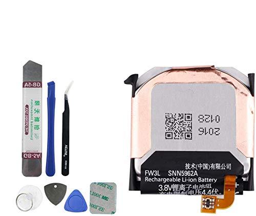 Upplus SNN5962A FW3L Batería de repuesto compatible para reloj inteligente Moto 360 de 2ª generación 2015 con kit de herramientas