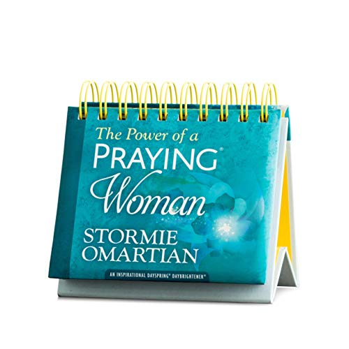 DaySpring - Stormie Omartian – O poder de uma mulher orando – Calendário perpétuo (10178), azul