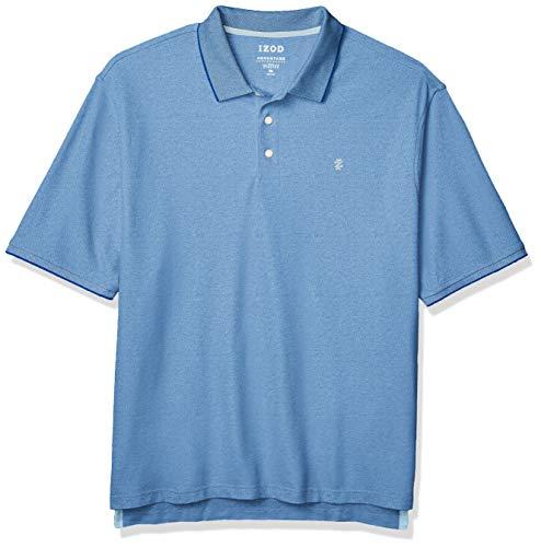 Izod Herren Big and Tall Advantage Performance Short Sleeve Solid Polo Shirt Poloshirt, Legacy Princess Blau, XXX-Large Hoch