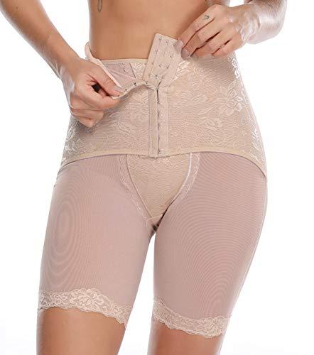 MISS MOLY Miederhose Damen Figurenformend Miederpants Miederslip mit 3x3 Haken Bauch Weg Panty Shapewear Shaping Unterhose Unterwäsche