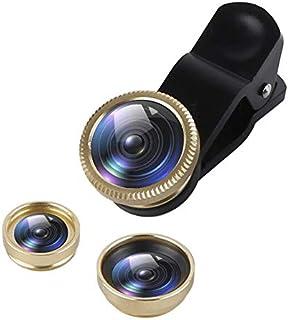 عدسات الهاتف المحمول - 3 في 1 زاوية واسعة ماكرو 180 درجة عدسات عين السمكة للهاتف المحمول عدسات عين السمك مع مشبك 0.67x لها...
