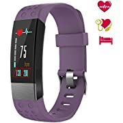 BuTure Fitness Tracker Color Screen, Blood Pressure Smart Watch IP67 Waterproof Heart Rate Monitor Activity Tracker Calorie Counter Pedometer Sleep Monitor Kids Men Women