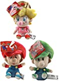Little Buddy LLC Super Mario Brothers 5' Plush Baby Set of 3: Mario, Luigi, Peach