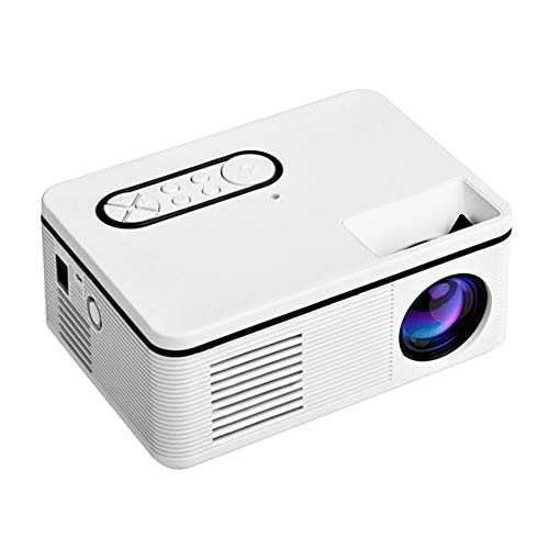 YYZLG Mini proyector casero Led Mini proyector portátil Compatible con proyector 1080p HD-White